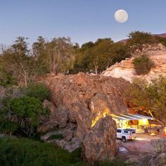 Planning a trip to the wonderful Namibia? Then Ongongo Waterfall Campsite might just be the spot for you!  #Camping #moon #Namibia #intothewild #trip #roadtrip