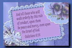1) Galatians 6 :16