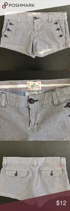 American Eagle Seersucker Cotton shorts Great condition. No stains or holes. American Eagle Outfitters Shorts