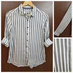 Hurry before stock runs out: Grey Black Stripe..., visit http://ftfy.bargains/products/grey-black-stripes-on-white-shirt?utm_campaign=social_autopilot&utm_source=pin&utm_medium=pin  #amazing #affordable #fashion #stylish