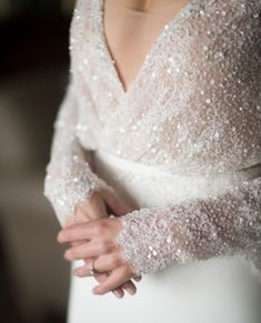 Your wintery wedding day look starts right here with these stunning winter wedding dresses. You'll fall for these fabulous winter wedding gowns. Long Sleeve Wedding, Wedding Dress Sleeves, Dress Wedding, Winter Wedding Dresses, Dress Winter, Modest Wedding, Trendy Wedding, Beaded Wedding Dresses, Wedding Dress Sparkle