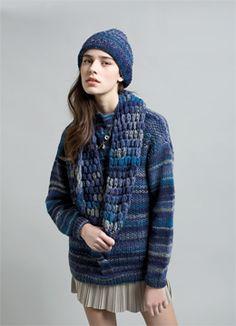 Luna Sweater, Beret and Cowl/Camisola, Gorro e Gola Luna