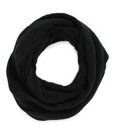 Take a look at this Black Infinity Scarf by TIMEOUT on #zulily today!