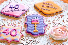 Beautiful 40th birthday cookies!