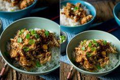 Chicken Teriyaki aus dem Slowcooker Teriyaki Chicken, Slow Cooking, Fried Rice, Fries, Ethnic Recipes, Food, Cooking Rice, Meat, Food And Drinks