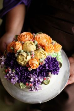 Korean Flower Buttercream decorated cake