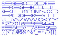 The alphabet includes letterforms in both regular and extended widths.
