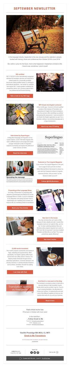 September newsletter September, Greek, News, Greece