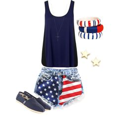 4th of July outfit  by bellalee2000 on Polyvore  sc 1 st  Pinterest & 41 best 4th of July Outfit images on Pinterest | Summer outfit ...