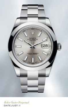 Rolex Datejust II 41mm in 904L steel with a silver dial and Oyster bracelet. #RolexOfficial
