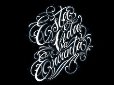 Tattoo Lettering Styles, Chicano Lettering, Graffiti Lettering Fonts, Graffiti Writing, Tattoo Script, Script Lettering, Tattoo Fonts, Lettering Design, Graffiti Tagging