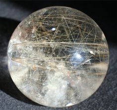 gold rutile quartz crystal ball, large rutilated quartz sphere, energy healing stone, bohemian decor, nature decor, meditation crystal ball