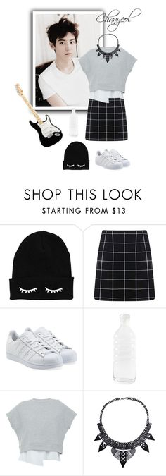 """Chanyeol style"" by avigeja-j ❤ liked on Polyvore featuring Miss Selfridge, adidas Originals, canvas and 10 Crosby Derek Lam"