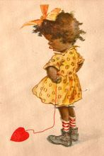 Valentine's Day Post Card  1925 Black Americana & Adorable