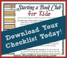 Have you ever thought about starting a book club with your kids? Here is a checklist that you will love.