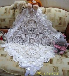 Georgous!!  Covers to Crochet: The blanket of Baptism!  charted pattern given (graph).