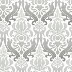 NuWallpaper 30.75 sq. ft. Grey Nouveau Damask Peel and Stick Wallpaper NU1827 at The Home Depot - Mobile