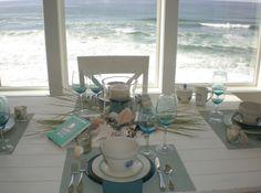 Beautiful! #oceanview #tablescape