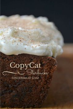 Copycat Starbucks Gingerbread (A moist spicy gingerbread loaded with cream cheese frosting.)  l  The View From Great Island