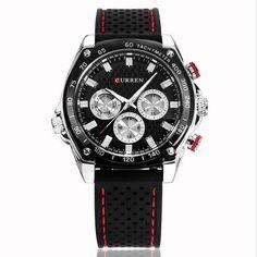 Brand Luxury Men Sports Watches Silicone Men Quartz Military Army Wristwatches