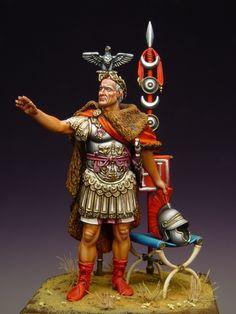 Soldiers on foot - Virtual Museum of Historical Miniatures Roman Soldiers, Toy Soldiers, Ancient Rome, Ancient History, Gaius Julius Caesar, Roman Legion, Roman Republic, Armadura Medieval, Military Figures