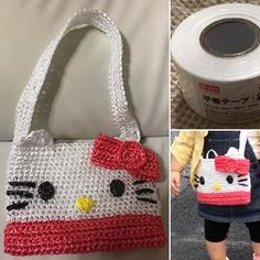 Images about #スズランテープ tag on instagram Knitting Videos, Crochet Purses, Straw Bag, Pouch, Shoulder Bag, Tags, Pattern, Maria Clara, Instagram