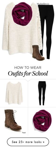 """""""School's out today bc of snow..."""" by haleyfrancis on Polyvore featuring Max Studio, MANGO, Halogen, Refresh, women's clothing, women's fashion, women, female, woman and misses"""