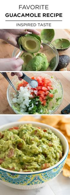 Easy Homemade Guacamole Recipe - When we're entertaining we have a few recipes we always go to. Sure we'll also add something with a twist next to it, but we always include one of our staples. This simple guacamole recipe is one of those staples. Mexican Food Recipes, New Recipes, Dinner Recipes, Favorite Recipes, Simple Recipes, Appetizer Recipes, Fast Recipes, Indian Recipes, No Cook Recipes