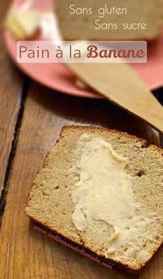 Pain à la banane banana bread sans gluten et sans sucres ajoutés #wellnessnutritionista