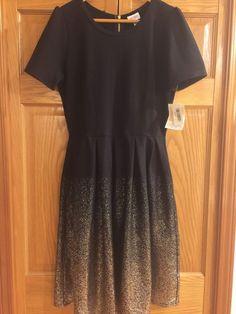LuLaRoe Elegant Collection XL Amelia Ombre Black & Gold Dress NWT Unicorn! #LuLaRoe #Elegance