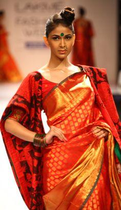 Gaurang Shah Sarees at Lakme Fashion week. original pin by @webjournal