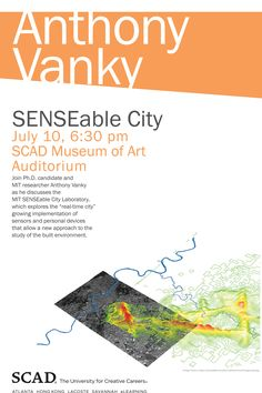 Ph.D. candidate and MIT researcher Anthony Vanky at #SCADMOA  http://scadmoa.org/visit/calendar/2012/anthony-vanky