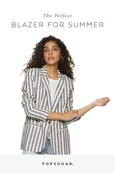 This Affordable Linen Blazer Will Solve All Your Summer Workwear Problems Summer Shades, Linen Blazer, Work Wardrobe, Workwear, Stylish Outfits, How To Wear, Women, Fashion, Dapper Clothing