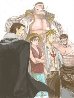 Whitebeard - Crocodile - Luffy - Marco - Bon-chan... and they still lost at Marineford.