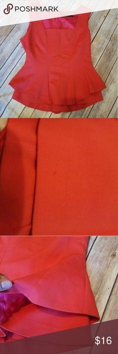 ZARA Basic Red Peplum Top ZARA Basic Red Peplum Top. One tiny snag seen on photo.    Size S Zara Tops Blouses