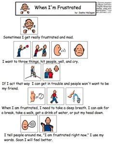 When I'm Frustrated - Visual Story for Kids with Autism by candin