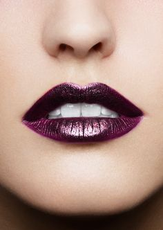 flashy lip color is definitely in this season!