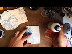 A Video on Creating an Gorgeous Canvas by May Flaum for Simon Says Stamp 2013