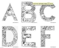 Free printable animal letters