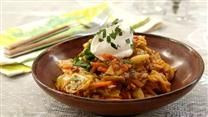 Cabbage Roll Casserole! Substitute riced cauliflower for the rice, use less liquid as rice would soak up some of that. Also, for time-saving, use a bag of pre-cut coleslaw cabbage. HG lib :) YUM! Christine