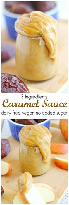 Caramel Sauce (dairy free vegan) Just 3 ingredients make this an easy healthy sauce!: