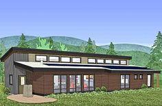 Net Zero Ready Mountain House Plan 54213HU