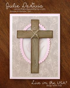 Stamp It Group Easter Themed Blog Hop and Giveaway - Hardwood by Stampin' Up! with Falling in Love Designer Series Paper #eastercards #stampinup #handmadecards #diycrafts #hardwood #fallinginlovedsp #juliedeguia #thewaywestamp