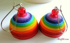 Rainbow domes.. paper quilling.. to punk up that simple outfit  mail.artfili@gmail.com