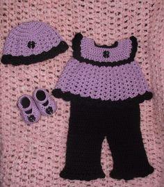 Newborn Baby Girl Crochet Diaper Dress Set by TJsCrochetCreations