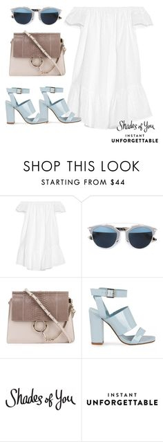 """Shades of You: Sunglass Hut Contest Entry"" by inveins ❤ liked on Polyvore featuring Elizabeth and James, Christian Dior, Chloé and shadesofyou"