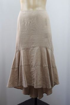 Size L / 14 Witchery Ladies Linen Skirt Business Office Casual Boho Chic Design #Witchery #ALine