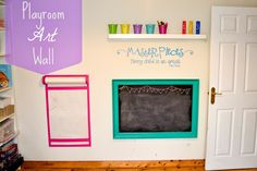 The Natural Momma in Me: Playroom Art Wall