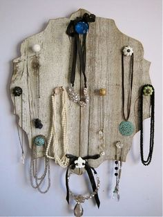 jewelry holder shabby jewelry display reclaimed by FORTRESSco. $75.00, via Etsy.