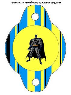 Batman - Complete Kit with frames for invitations, labels for snacks, souvenirs and pictures!   Making Our Party